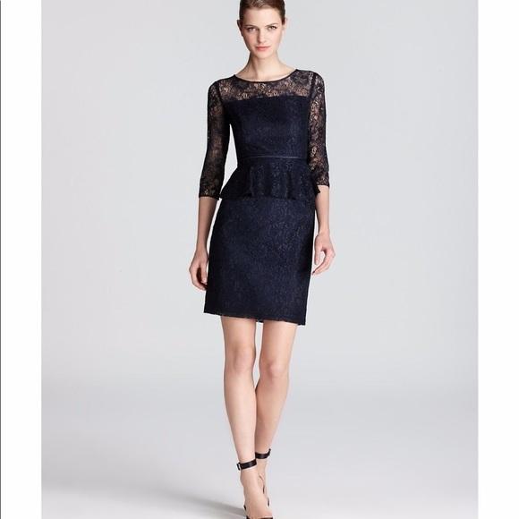 cb12ccb1e2 Adrianna Papell Dresses   Skirts - Adrianna Papell navy lace peplum dress